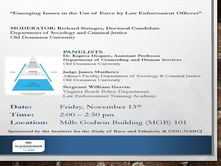 Emerging Issues in the Use of Force by Law Enforcement Officers Panel