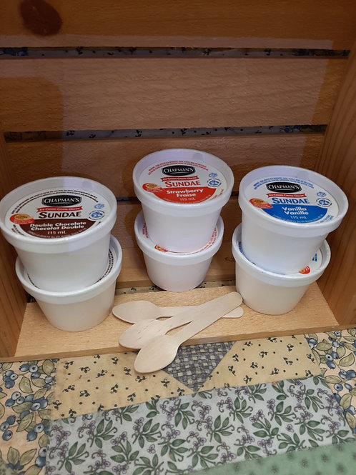 Ice Cream Cup w/ Spoon - Chapman's (115ml)