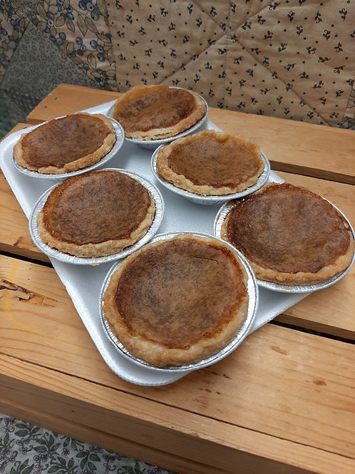 Butter Tarts 6 pack (Plain, Raisin or Pecan)