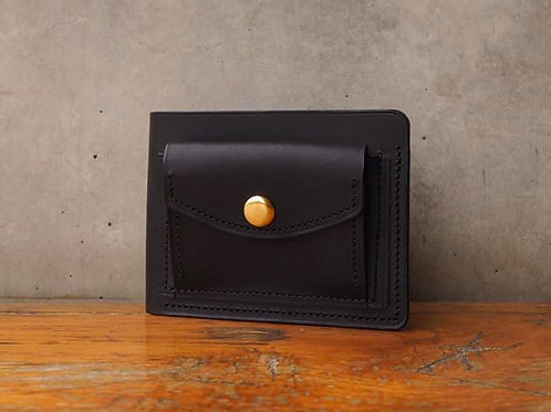 Short Wallet with coin pocket in Black