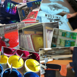 Screen printing collage