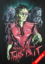 Example of full colour plastisol screenprint on black garment