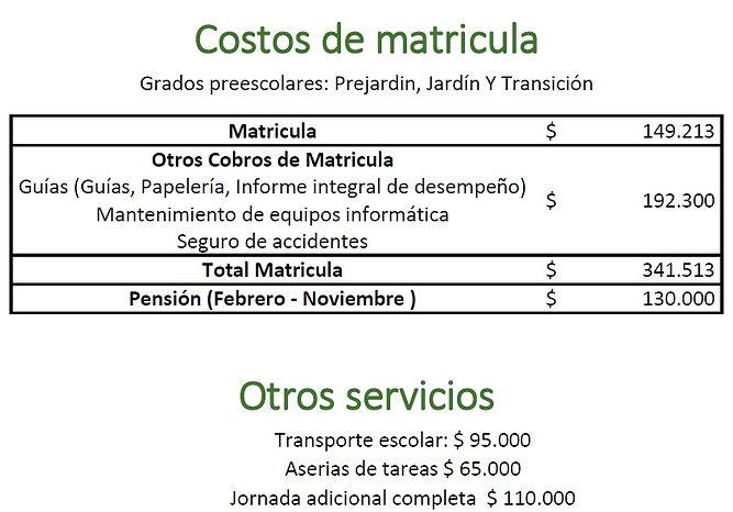 coronograma matricula 2019 - preescolar.