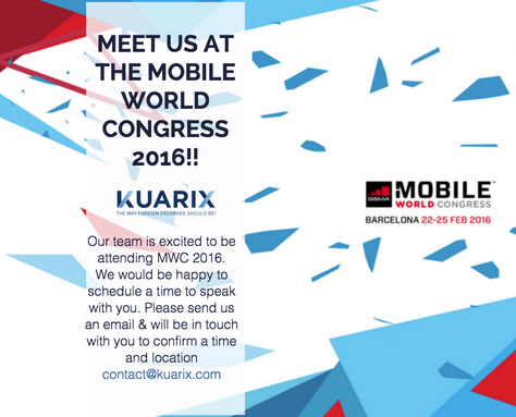 MEET US AT THE MOBILE WORLD CONGRESS 2016!!
