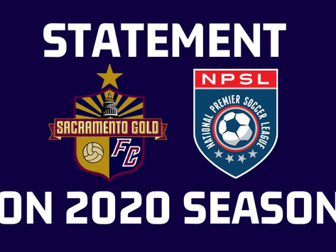 Statement on 2020 NPSL Season