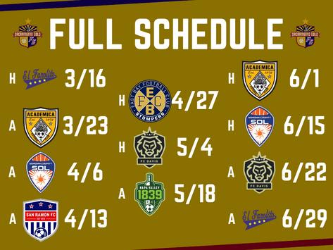 2019 NPSL Schedule