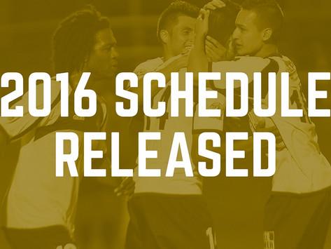 2016 Schedule Released