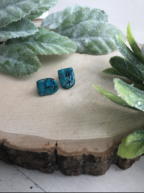 Ruth Stud in Turquoise