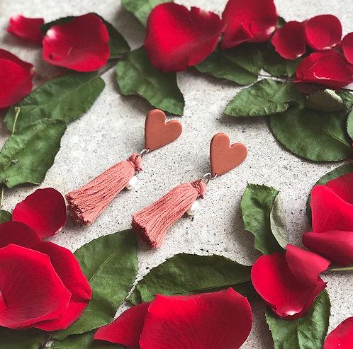 Heart Strings in Terracotta