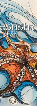 "octopus  watercolor/ink on cold press paper  prints: original 7.5x10"":"