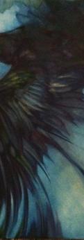 "blackbird  oil on canvas 12x9"""