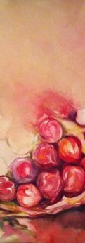 "pomegranate  oil on canvas 30x24"""