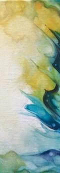 "butterfly wing  oil on linen panel 8x8"""