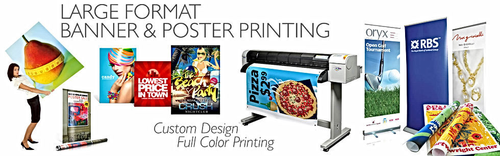 Imprint3 does large format printing of signs, posters, and banners.