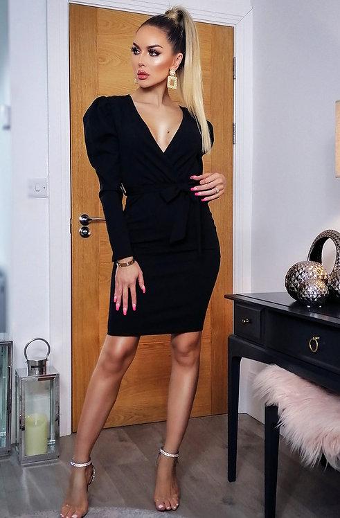 Zoya Puffed Sleeve Dress