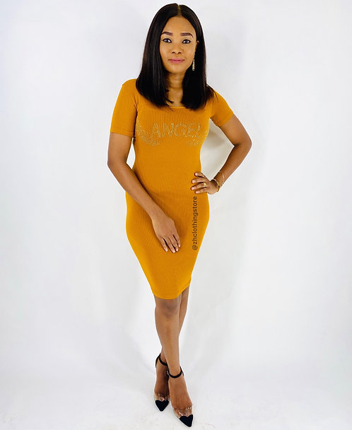 Crystal Mustard Dress