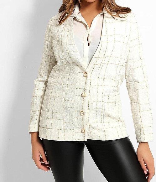White Lurex Tweed Jacket