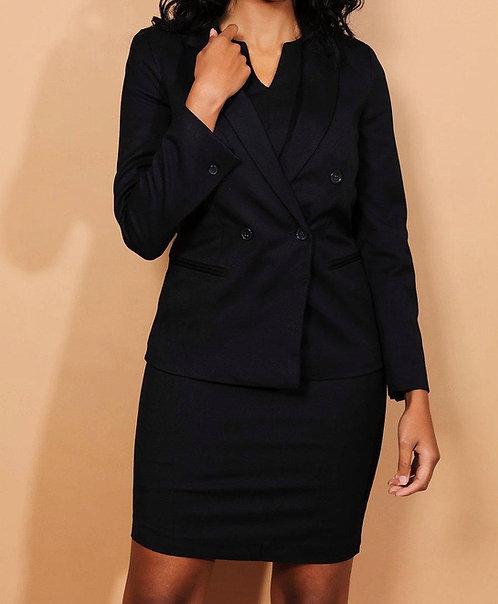 Navy Dress And Blazer Set