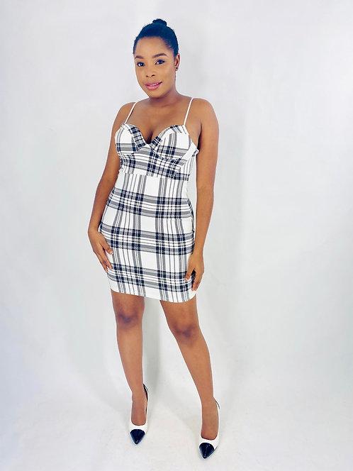 White Check Dress