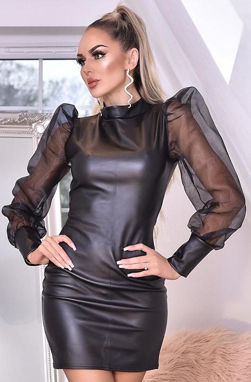 Avery Leatherette Dress