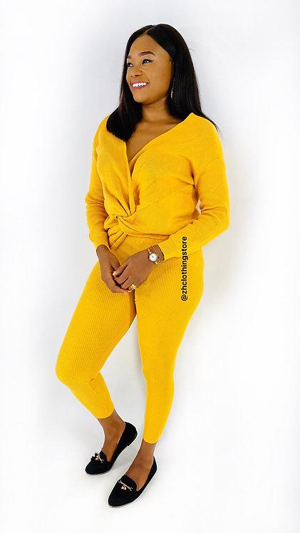 Mustard Twist Front 2 piece