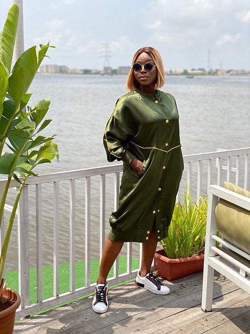 Khaki Oversized Green Jacket