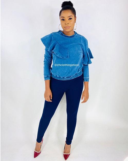 Blue Denim Sweatshirt