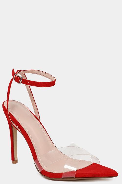 Crossover Perspex Red Heels