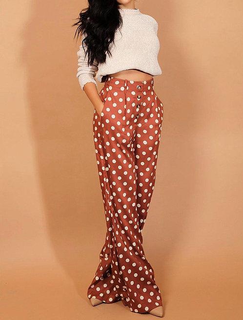 Brown Polka Dot Trousers