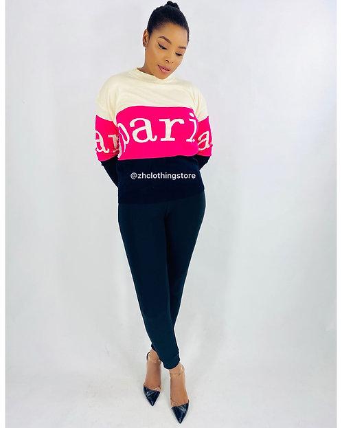 Paris Slogan Pullover