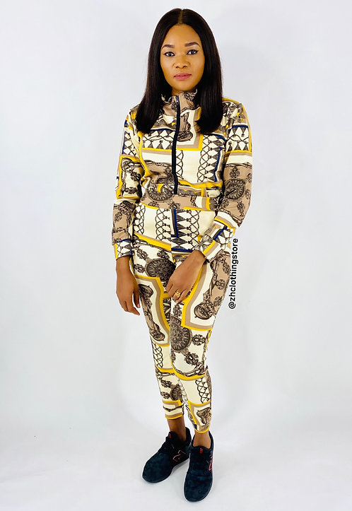 Yellow Baroque Two Piece Tracksuit