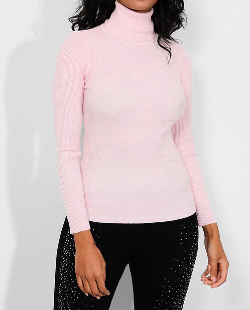 Baby Pink High Neck Pullover