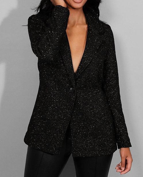 Black Gold Lurex Stripe Blazer