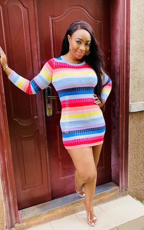 Multicolour Lurex Dress