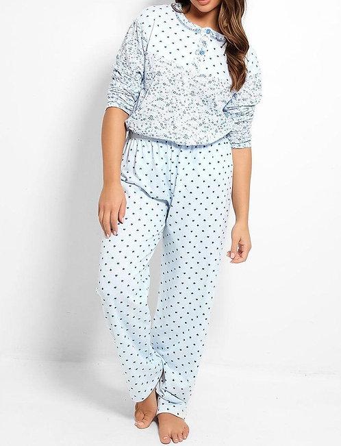 Blue Heart Pyjama Set