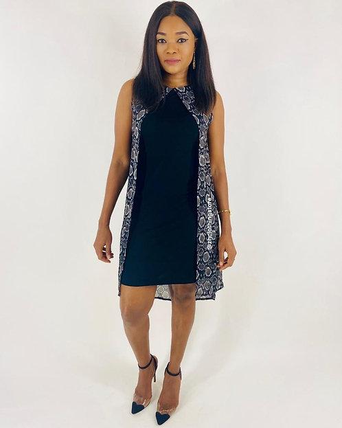 Marina Kaneva Lurex Overlay Dress