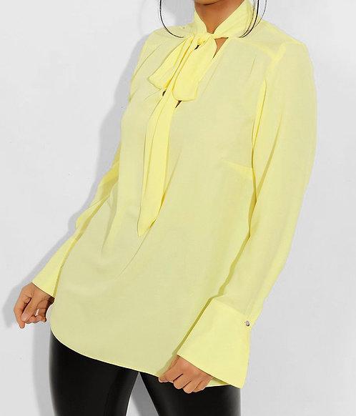 Dorothy Perkins Yellow Chiffon Blouse