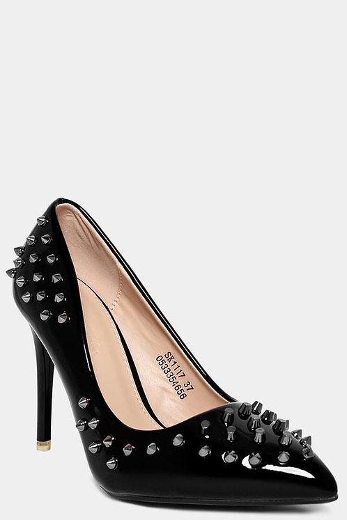 Shimmer Black Studs heel