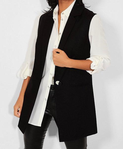 Black Smart Buttoned Jacket