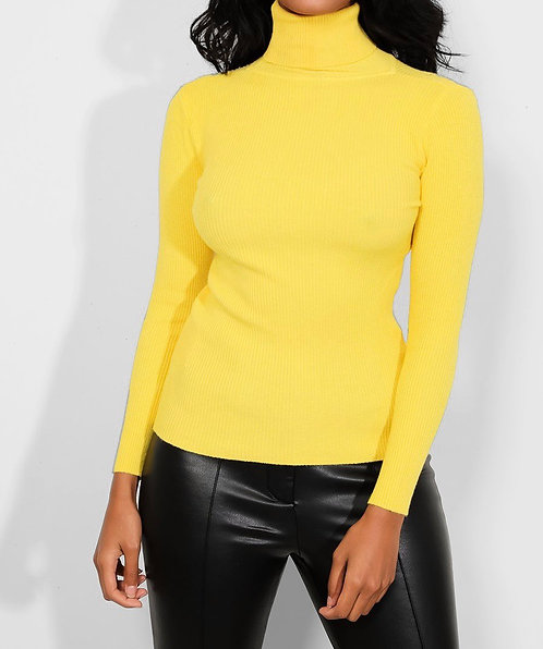 Yellow High Neck Pullover