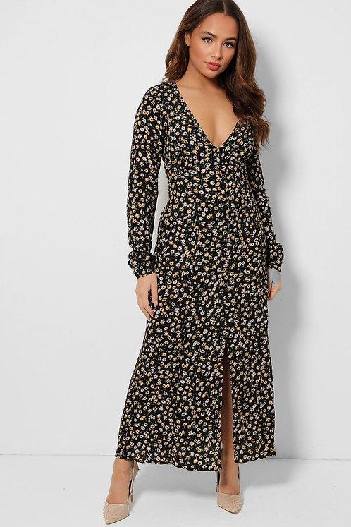 Zara Floral  Bustier Dress