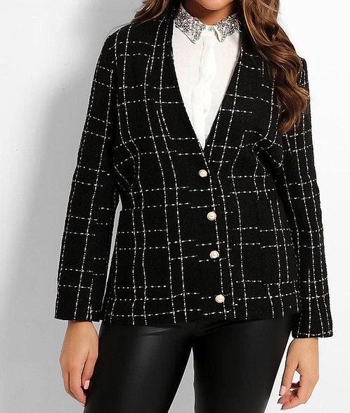 Black Lurex Tweed Jacket