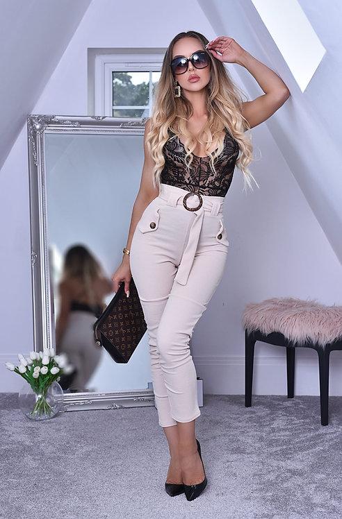 Imogen Button Cigarette Trousers