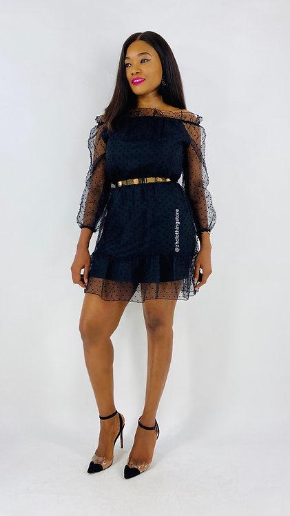 Lilly Polka Dot Bardot Dress