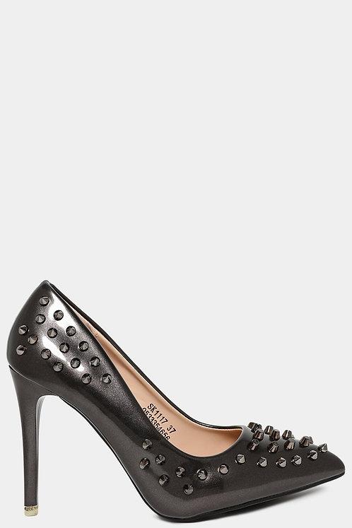 Shimmer Grey Studs  heel