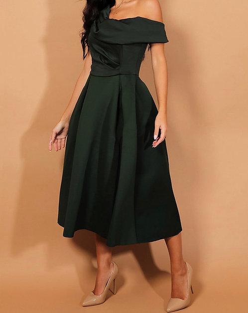 Green Shoulder Dress