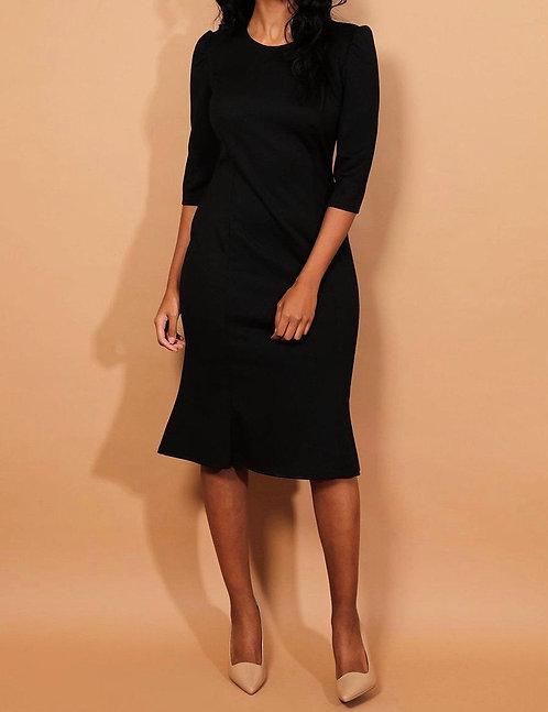 Black Tulip Midi Dress