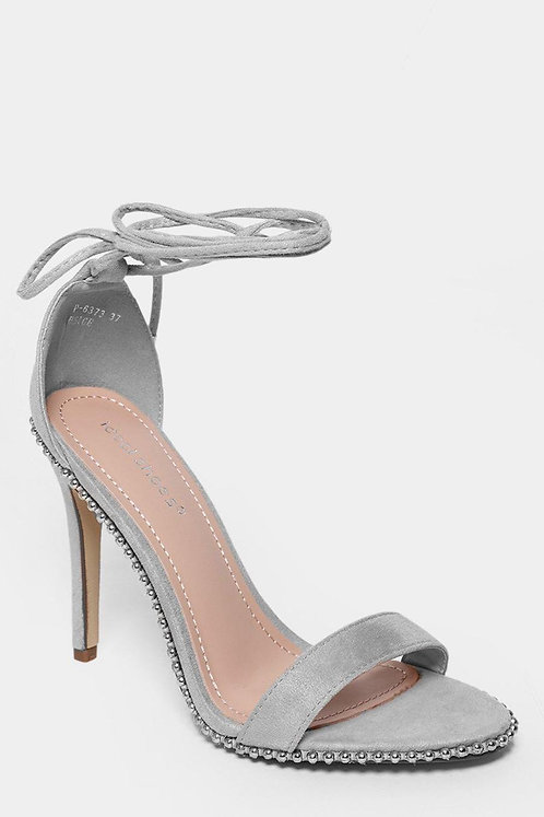 Grey Studded Heels