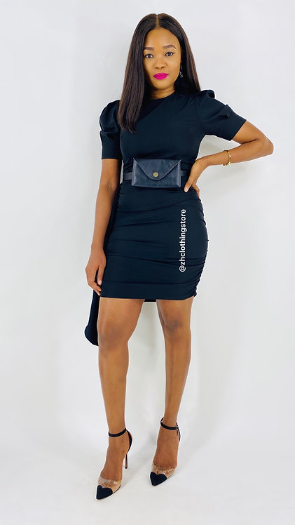 Dress With Black Bumbag
