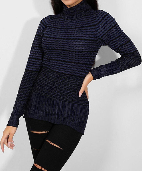 Navy Black Turtle Neck Top (From Next)